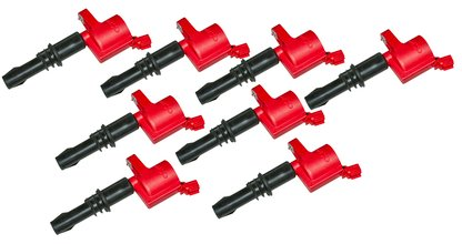 MSD Ignition Coils 2004-2008 Ford 4.6L/5.4L 3-valve engines, Red, 8-Pack