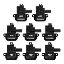 MSD Ignition Coil 1998-2006 GM LS1/LS6 engines, Black, 8-Pack