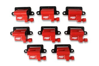 MSD Ignition Coil Blaster LS Series 1999-2007 GM L-Series Truck engines, Red, 8-Pack