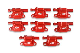 MSD Ignition Coil Blaster LS Series 2005-2013 GM LS2/LS3/LS4/LS7/LS9 Engines, Red, 8-pack
