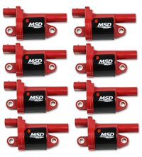MSD Ignition Coil Blaster Series GM Gen V Direct Injected enginesCoils, 2014 and Up, Round, Red, 8-pack
