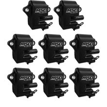 MSD Ignition Coils Pro Power series,GM LS1/LS6 Coils, black, 8-Pack