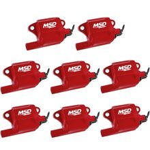 MSD Ignition Coils Pro Power Series GM LS2/LS7 Engines, Red, 8-Pack