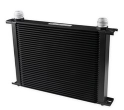 Earls UltraPro Oil Cooler - Black - 34 Rows - Extra-Wide Cooler - 16 AN Male Flare Ports