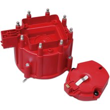 Distributor Cap and Rotor; GM HEI Dist., Red