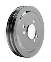 Mr. Gasket Chrome Crankshaft Pulley - Double Groove