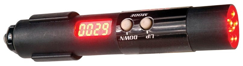 Holley 840011 Sniper Standalone CAN Shift Light Silver Tube Yellow LED Direct Wire Connection Sniper Standalone CAN Shift Light