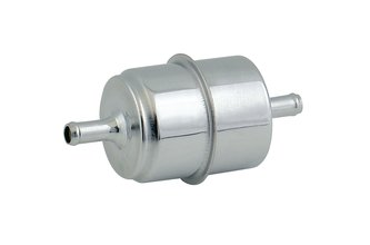 Chrome Fuel Filter - Fits 5/16