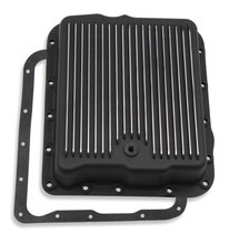 Mr. Gasket Transmission Oil Pan - Black Aluminum