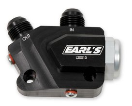 Earls LS Side Mount Oil Cooler Adapter