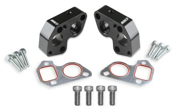 Earls Electric Water Pump Block Adapters - Pair - Fits GM LS Engines
