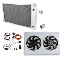 Frostbite Aluminum Radiator - 3 Row LS Swap + Fan/Shroud/Fittings